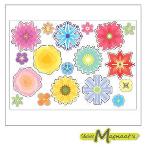 Fiets stickers bloem