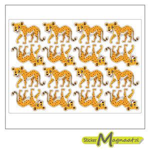 Dieren stickers luipaard