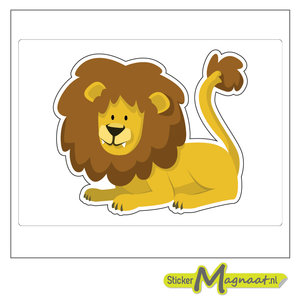 Dieren stickers leeuw