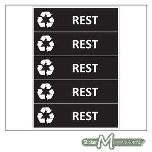 Kliko stickers Restafval