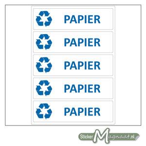 Afval stickers Papier