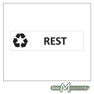 Afval sticker Restafval