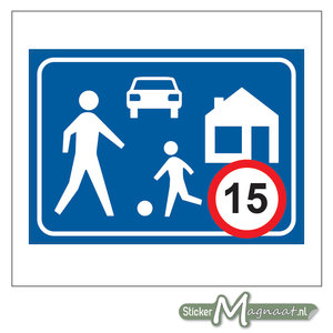 Woonerf 15 KM Sticker