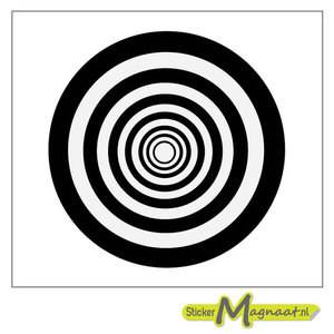 Tegelsticker patroon cirkels zwart