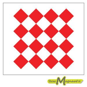 Tegelsticker vierkant patroon rood