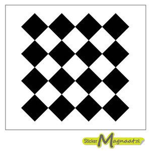 Tegelsticker vierkant patroon zwart