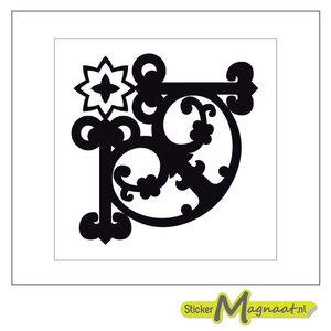 Tegel stickers barok zwart