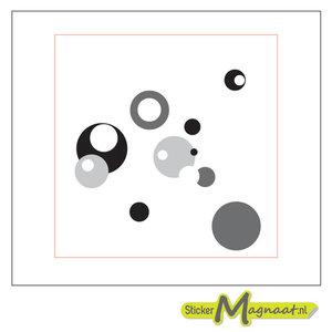 Tegelsticker art zwart grijs