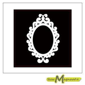 Tegelsticker barok wit