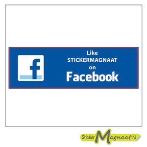Facebook Stickers met Bedrijfsnaam - 5 Stuks