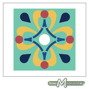 Tegelsticker gekleurde Figuren