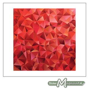 Tegelstickers Abstract Rood