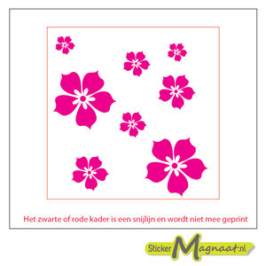 Tegelsticker arabisch bloem roze