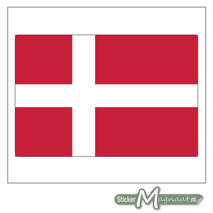 Vlag Denemarken Sticker