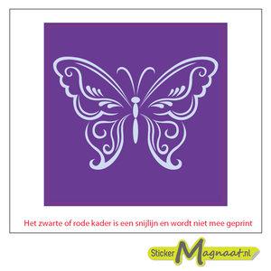 Tegel stickers vlinder wit