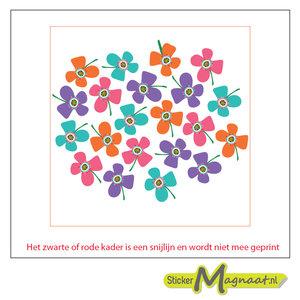 Tegel sticker verschillende bloemen kleur