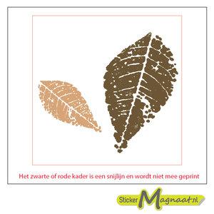 Tegel sticker herfst blad