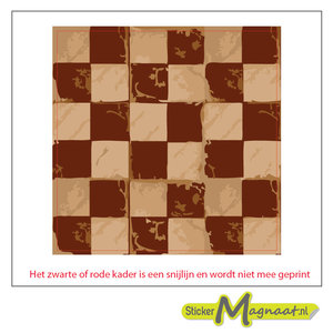 Tegelsticker schaak patroon