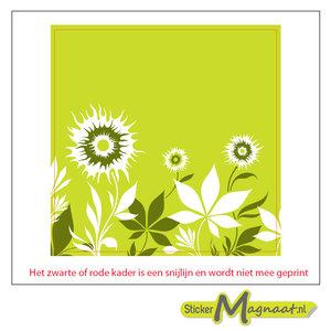 Tegelsticker bloem licht groen