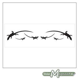 Raamdecoratie Stickers - 2 Stuks - Salamander