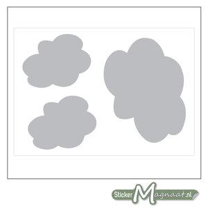 Raamdecoratie Stickers - Wolk - Grijs