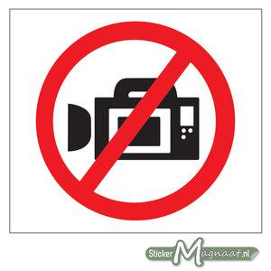 Verboden te Filmen Stickers