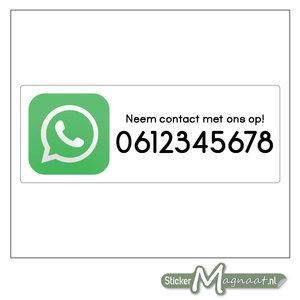 WhatsApp Stickers met eigen nummer