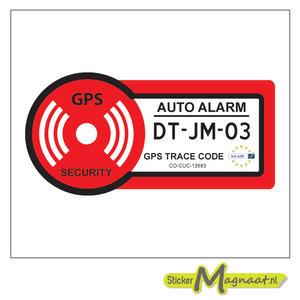 autoalarm sticker beveiligingsticker