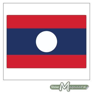 Vlag Laos Sticker