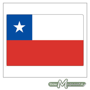 Vlag Chili Sticker