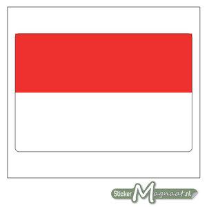 Vlag Indonesië Sticker