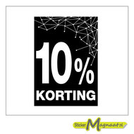 kortings-sticker raamstickers